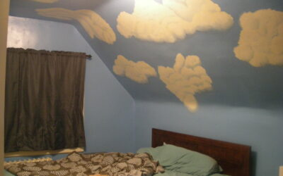 Finished painting the bedroom!