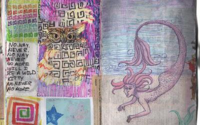 Collage Sketchbook: Page 4