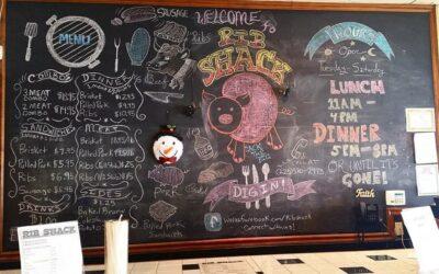 Rib Shack Chalk Board