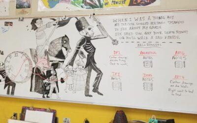 The Black Parade White Board Art